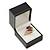 Large Black Leatherette Ring Box - view 4