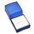 Square Blue Ring/ Stud Earrings/ Small Brooch Jewellery Box - view 7