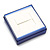 Square Blue Ring/ Stud Earrings/ Small Brooch Jewellery Box - view 5