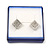 Square Blue Ring/ Stud Earrings/ Small Brooch Jewellery Box - view 3
