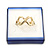 Square Blue Ring/ Stud Earrings/ Small Brooch Jewellery Box - view 4