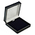 Large Luxury Square Dark Blue Leatherette Brooch/ Pendant/ Earrings Jewellery Box - view 2