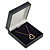 Large Luxury Square Dark Blue Leatherette Brooch/ Pendant/ Earrings Jewellery Box - view 6