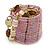 Ring/ Pendant/ Earrings Light Pink Glass Bead Handmade Box - view 2