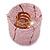 Ring/ Pendant/ Earrings Light Pink Glass Bead Handmade Box - view 3