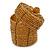 Ring/ Pendant/ Earrings Honey Gold Glass Bead Handmade Box - view 6
