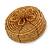 Ring/ Pendant/ Earrings Honey Gold Glass Bead Handmade Box - view 5