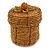Ring/ Pendant/ Earrings Honey Gold Glass Bead Handmade Box - view 9