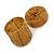 Ring/ Pendant/ Earrings Honey Gold Glass Bead Handmade Box - view 3