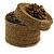 Bracelet/ Ring/ Pendant/ Earrings/ Jewellery Set Bronze Glass Bead Handmade Box - 75mm D/ 60mm H