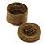 Bracelet/ Ring/ Pendant/ Earrings/ Jewellery Set Bronze Glass Bead Handmade Box - 75mm D/ 60mm H - view 3