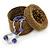 Bracelet/ Ring/ Pendant/ Earrings/ Jewellery Set Bronze Glass Bead Handmade Box - 75mm D/ 60mm H - view 2