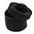 Bracelet/ Ring/ Pendant/ Earrings/ Jewellery Set Black Glass Bead Handmade Box - 75mm D/ 60mm H