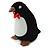 Black/ White Velour Penguin Jewellery Box For Small Ring/ Stud Earrings - view 7