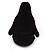 Black/ White Velour Penguin Jewellery Box For Small Ring/ Stud Earrings - view 6