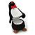 Black/ White Velour Penguin Jewellery Box For Small Ring/ Stud Earrings - view 2