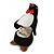 Black/ White Velour Penguin Jewellery Box For Small Ring/ Stud Earrings - view 4