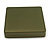 Large Square Glitter Olive Green Leatherette Brooch/ Pendant/ Necklace/ Set/ Earring Jewellery Box - The Jewellery Set not Included - view 2
