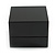 Luxury Wooden Black Gloss Wedding Double Ring/ Stud Earrings Box (Rings are not included) - view 7