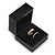 Luxury Wooden Black Gloss Wedding Double Ring/ Stud Earrings Box (Rings are not included)
