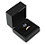 Luxury Wooden Black Gloss Wedding Double Ring/ Stud Earrings Box (Rings are not included) - view 5