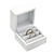 Luxury Wooden Snow White Gloss Wedding Double Ring/ Stud Earrings Box (Rings are not included) - view 2