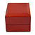 Luxury Wooden Red Mahogany Gloss Earrings/ Pendant Box (Earrings are not included) - view 8