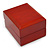 Luxury Wooden Red Mahogany Gloss Earrings/ Pendant Box (Earrings are not included) - view 2