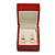 Luxury Wooden Red Mahogany Gloss Earrings/ Pendant Box (Earrings are not included) - view 4