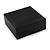 Luxurious Black Matt Wood Jewellery Presentation Box (Earrings, Brooch, Bracelet, Pendant) - view 7