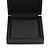 Luxurious Black Matt Wood Jewellery Presentation Box (Earrings, Brooch, Bracelet, Pendant) - view 2