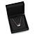 Luxurious Black Matt Wood Jewellery Presentation Box (Earrings, Brooch, Bracelet, Pendant) - view 3