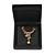 Luxurious Black Matt Wood Jewellery Presentation Box (Earrings, Brooch, Bracelet, Pendant) - view 4