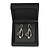 Luxurious Black Matt Wood Jewellery Presentation Box (Earrings, Brooch, Bracelet, Pendant) - view 5