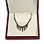 Luxury Large Wooden Mahogany Gloss Necklace/ Pendant/ Set/ Brooch/ Earring Box (Necklace is not included) - view 5