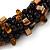 Teen/ Children/ Kids Black/ Brown Glass Bead Chunky Bracelet - 15cm L/ 3cm Ext - view 3