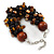 Teen/ Children/ Kids Black/ Brown Glass Bead Chunky Bracelet - 15cm L/ 3cm Ext - view 4