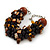 Teen/ Children/ Kids Black/ Brown Glass Bead Chunky Bracelet - 15cm L/ 3cm Ext - view 6