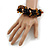 Teen/ Children/ Kids Black/ Brown Glass Bead Chunky Bracelet - 15cm L/ 3cm Ext - view 2