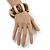 Natural/ Brown Wood Flex Bracelet - 19cm L - view 2