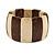 Brown/ Natural Wooden Station Flex Bracelet - 17cm L - view 3