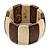Brown/ Natural Wooden Station Flex Bracelet - 17cm L