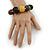 Multicoloured Graduated Wood Bead Flex Bracelet - 18cm L - view 2