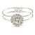 Floral Fashion Bangle Bracelet - view 2