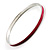 Raspberry Thin Enamel Metal Bangle