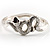 Silver Tone Snake Fashion Bangle Bracelet - view 7