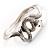 Silver Tone Snake Fashion Bangle Bracelet - view 8