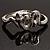 Silver Tone Snake Fashion Bangle Bracelet - view 9