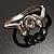 Silver Tone Snake Fashion Bangle Bracelet - view 3
