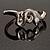 Silver Tone Snake Fashion Bangle Bracelet - view 5
